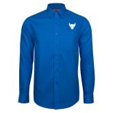 Red House French Blue Long Sleeve Shirt-Bull Spirit Mark