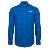 Red House French Blue Long Sleeve Shirt-Buffalo Word Mark
