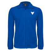 Fleece Full Zip Royal Jacket-Bull Spirit Mark