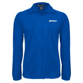Fleece Full Zip Royal Jacket-Buffalo Word Mark