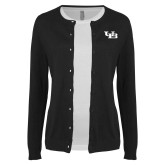 Ladies Black Cardigan-Interlocking UB
