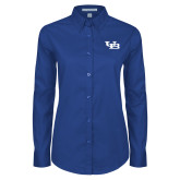 Ladies Royal Twill Button Down Long Sleeve-Interlocking UB