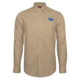 Red House Tan Long Sleeve Shirt-Interlocking UB