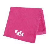 Pink Beach Towel-Interlocking UB