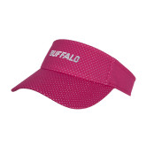 Pink Athletic Mesh Visor-Buffalo Word Mark