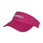 Pink Athletic Mesh Visor-Buffalo Word Mark