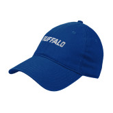 Royal Twill Unstructured Low Profile Hat-Buffalo Word Mark