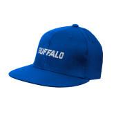 Royal OttoFlex Flat Bill Pro Style Hat-Buffalo Word Mark