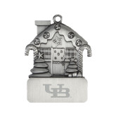 Pewter House Ornament-Interlocking UB Engraved