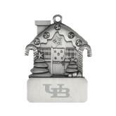 Pewter House Ornament-Interlocking UB Engraved