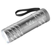 Astro Silver Flashlight-Interlocking UB Engraved