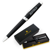 Cross Aventura Onyx Black Ballpoint Pen-Buffalo Word Mark Engraved
