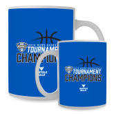 Full Color White Mug 15oz-2018 Mens Basketball Champions - Stacked