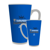 Full Color Latte Mug 17oz-2018 Mens Basketball Champions - Stacked