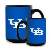 Full Color Black Mug 15oz-Interlocking UB