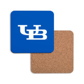 Hardboard Coaster w/Cork Backing-Interlocking UB