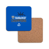 Hardboard Coaster w/Cork Backing-2018 Mens Basketball Champions - Stacked
