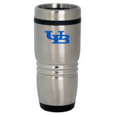 Rolling Ridges Silver Stainless Tumbler 16oz-Interlocking UB