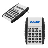 White Flip Cover Calculator-Buffalo Word Mark