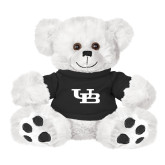 Plush Big Paw 8 1/2 inch White Bear w/Black Shirt-Interlocking UB
