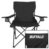 Deluxe Black Captains Chair-Buffalo Word Mark