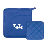 Quilted Canvas Royal Pot Holder-Interlocking UB