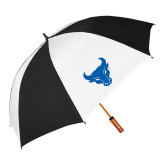 62 Inch Black/White Umbrella-Bull Spirit Mark