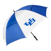 62 Inch Royal/White Umbrella-Interlocking UB