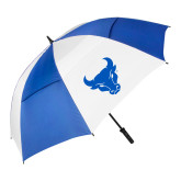 62 Inch Royal/White Umbrella-Bull Spirit Mark