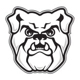 Medium Decal-Bulldog Head, 8 inches tall