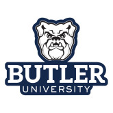 Large Decal-Butler University Stacked Bulldog Head, 12 inches wide