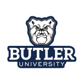 Small Decal-Butler University Stacked Bulldog Head, 6 inches wide