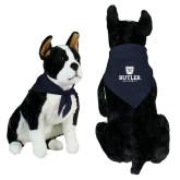 Navy Pet Bandana-Butler University Stacked Bulldog Head