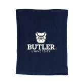 Navy Rally Towel-Butler University Stacked Bulldog Head