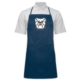 Full Length Navy Apron-Bulldog Head
