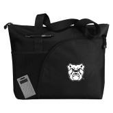 Excel Black Sport Utility Tote-Bulldog Head