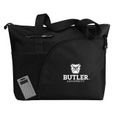 Excel Black Sport Utility Tote-Butler University Stacked Bulldog Head