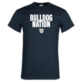 Navy T Shirt-Bulldog Nation