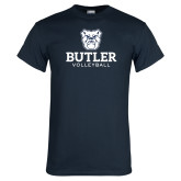 Navy T Shirt--Volleyball