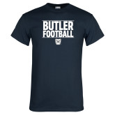 Navy T Shirt---Stacked Block Football