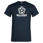 Navy T Shirt---Soccer Ball Design