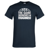 Navy T Shirt-The Game Honors Toughness
