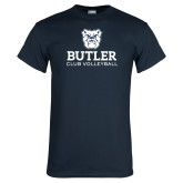 Navy T Shirt-Club Volleyball