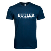 Next Level SoftStyle Navy T Shirt-Butler University