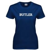 Ladies Navy T Shirt-Butler