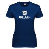 Ladies Navy T Shirt-Dance Team