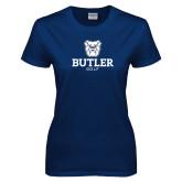Ladies Navy T Shirt--Golf