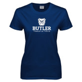 Ladies Navy T Shirt--Track and Field