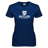 Ladies Navy T Shirt--Swimming