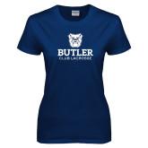 Ladies Navy T Shirt-Club Lacrosse
